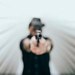 Gt with gun blurred